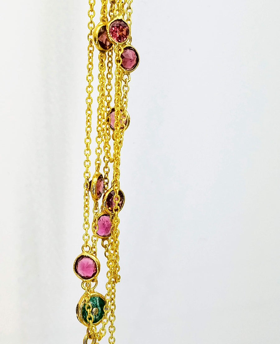 TOURMALINE GOLD NECKLACE