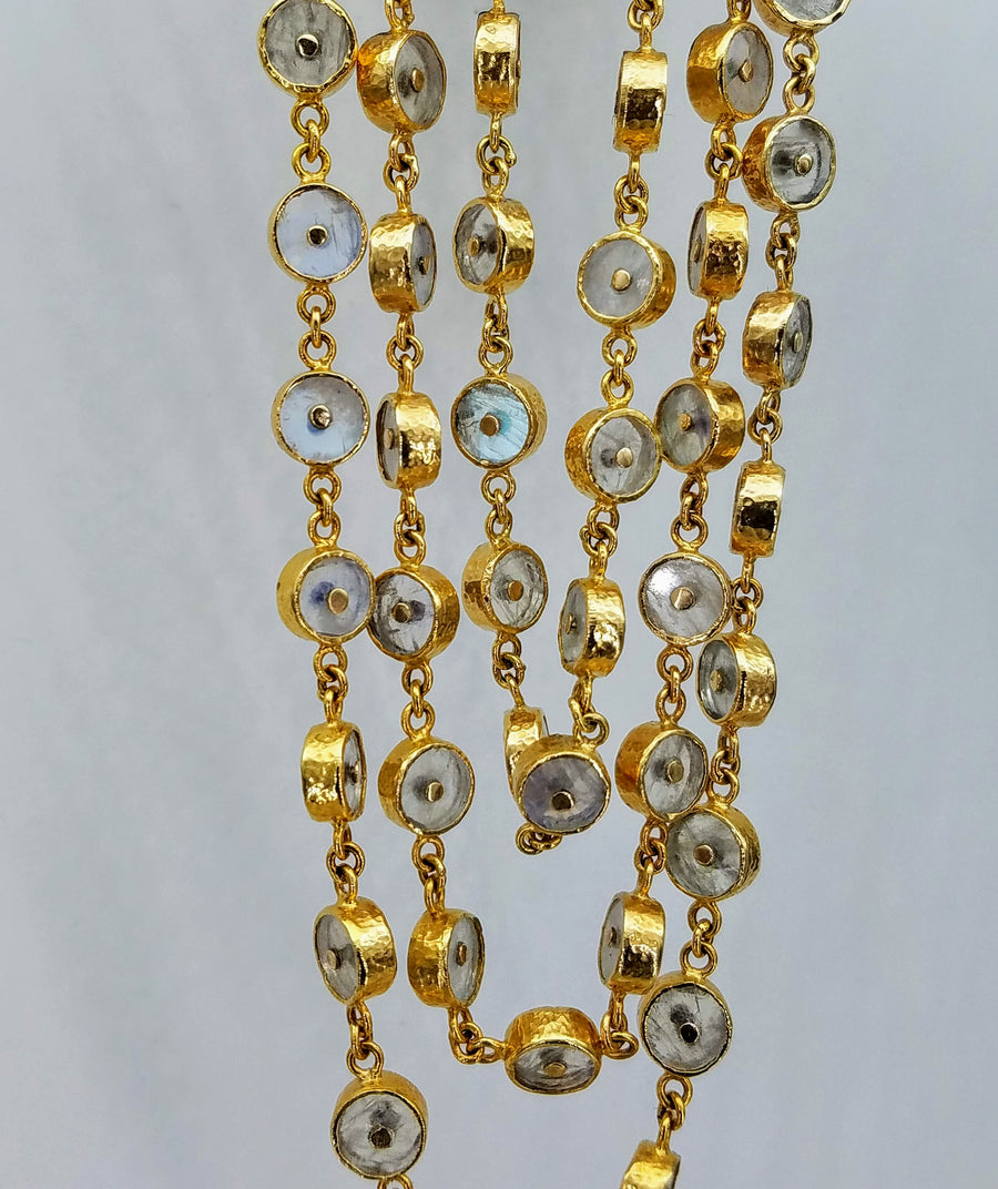 CASCADE MOONSTONES SUN NECKLACE