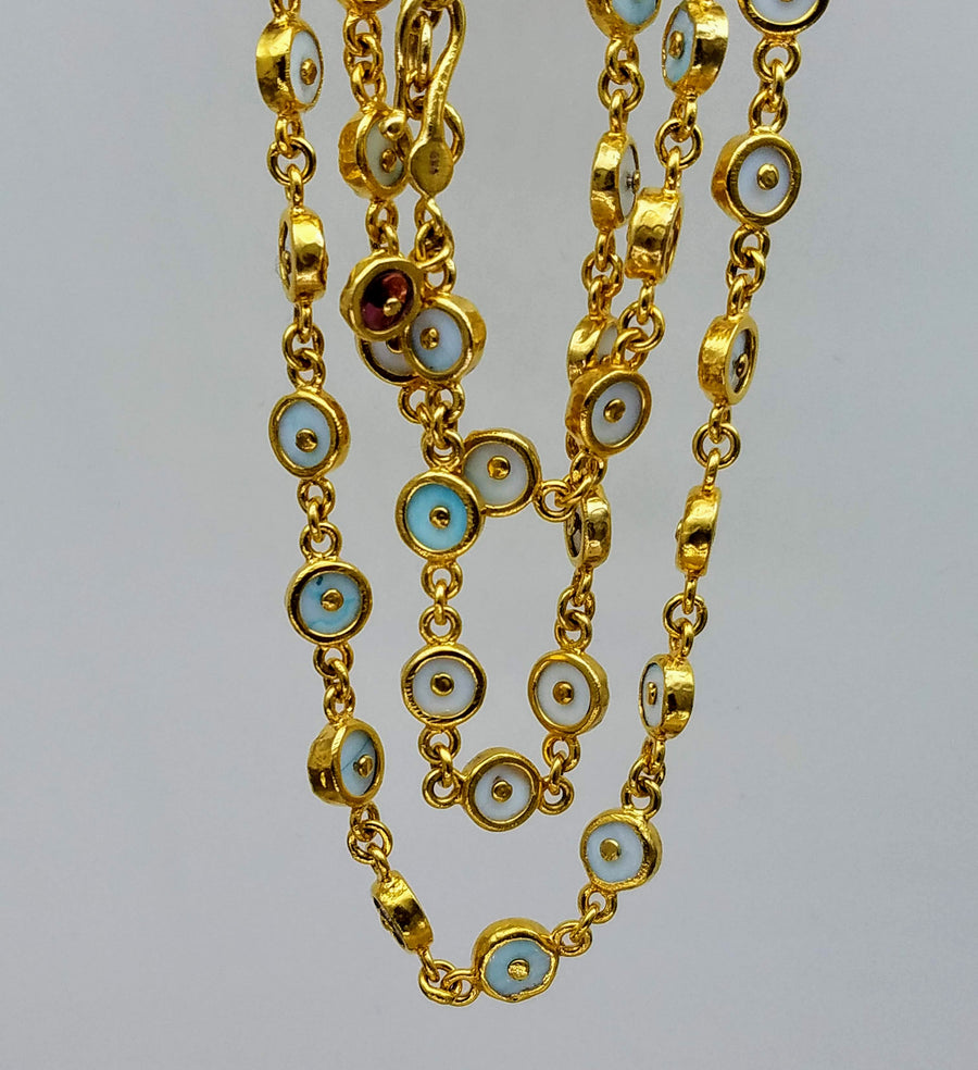 FIRE OPALS SUN NECKLACE