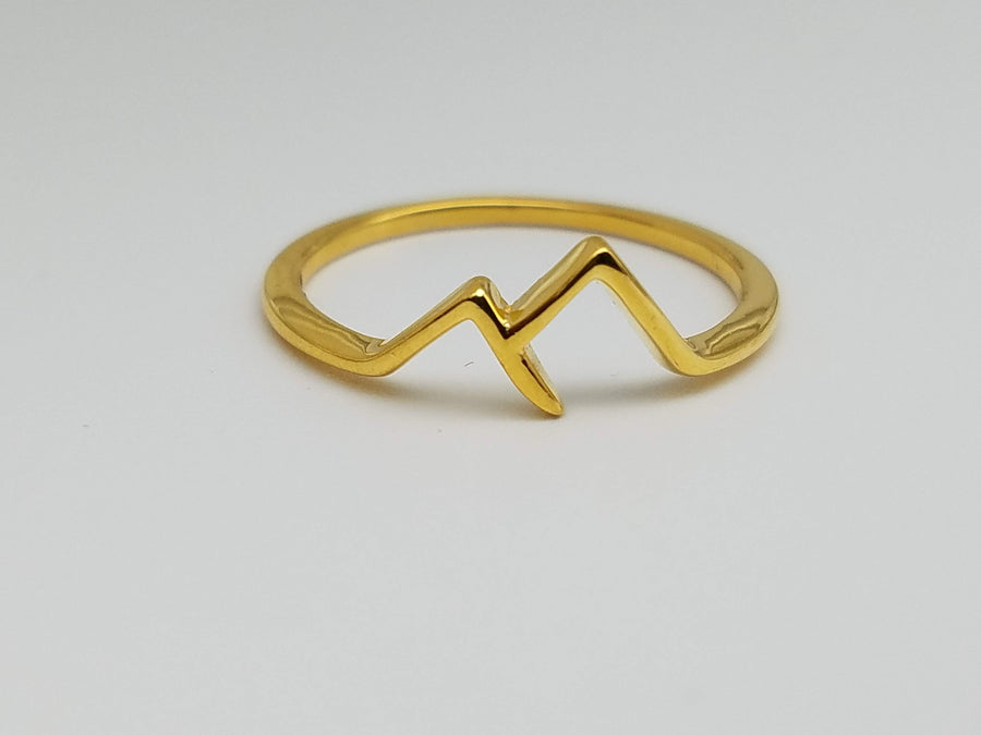 MOUNTAIN RANGE GOLD RING