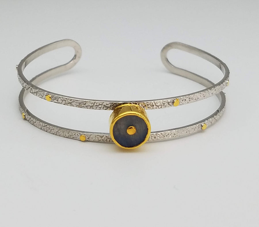LABRADORITE SIGNATURE BANGLE