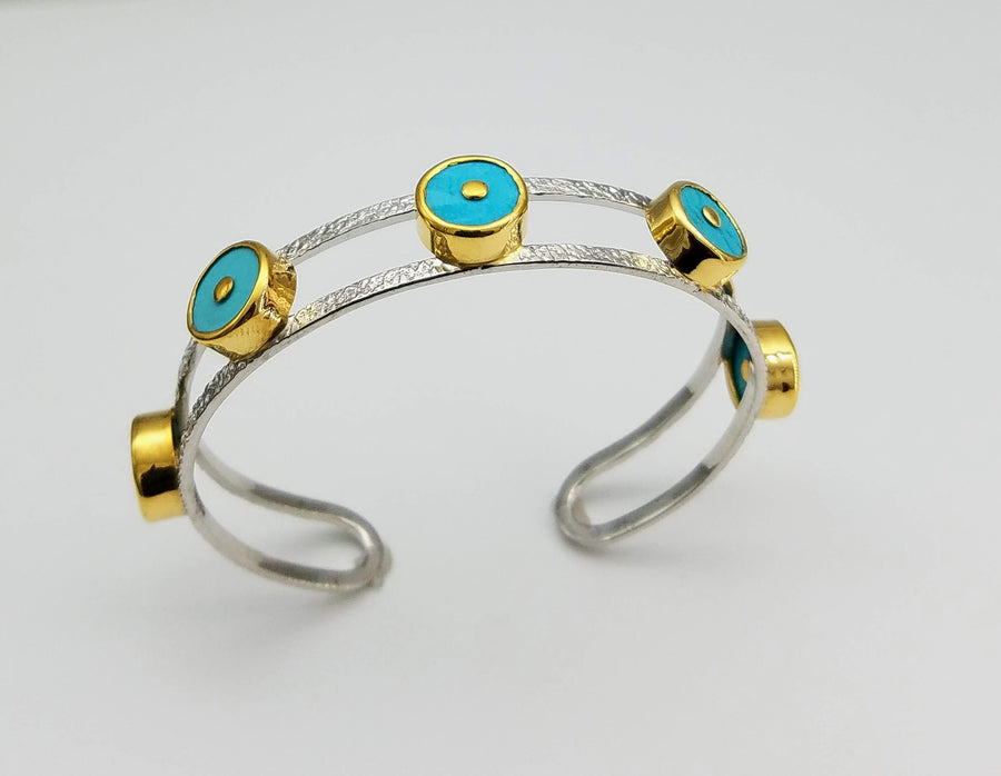 TURQUOISE SIGNATURE BANGLE SONIA TONKIN