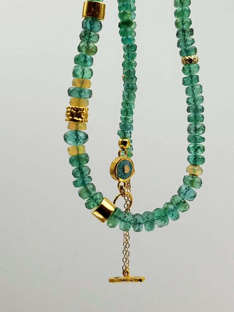 EMERALD OPAL NECKLACE
