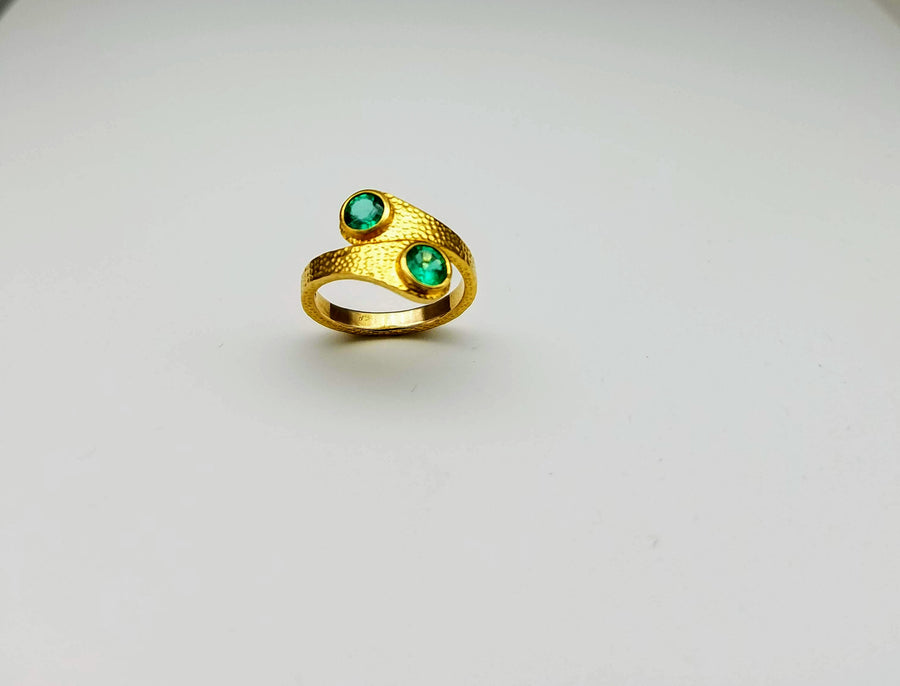 EMERALDS GOLD RING