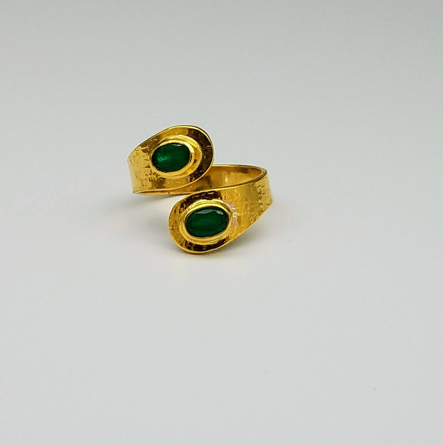 EMERALD 14 KT GOLD RING