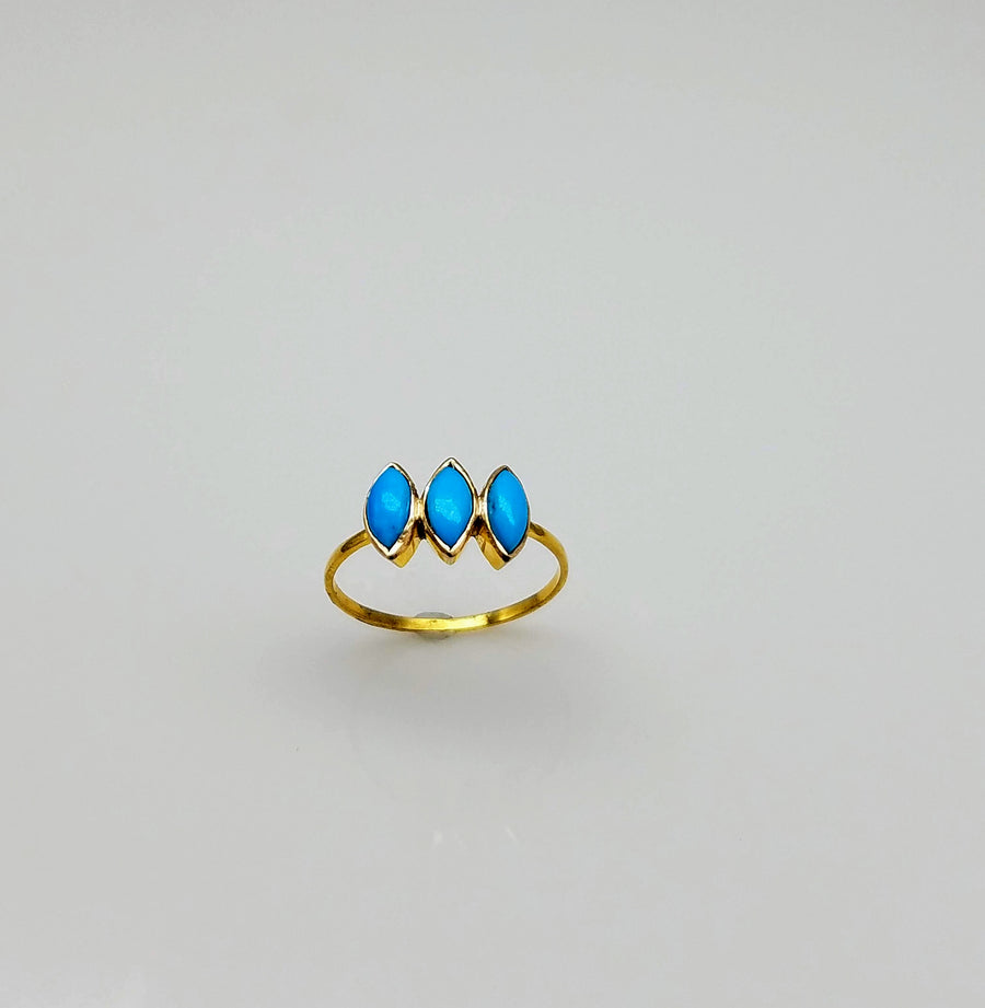 DIAMOND SHAPE TURQUOISE RING