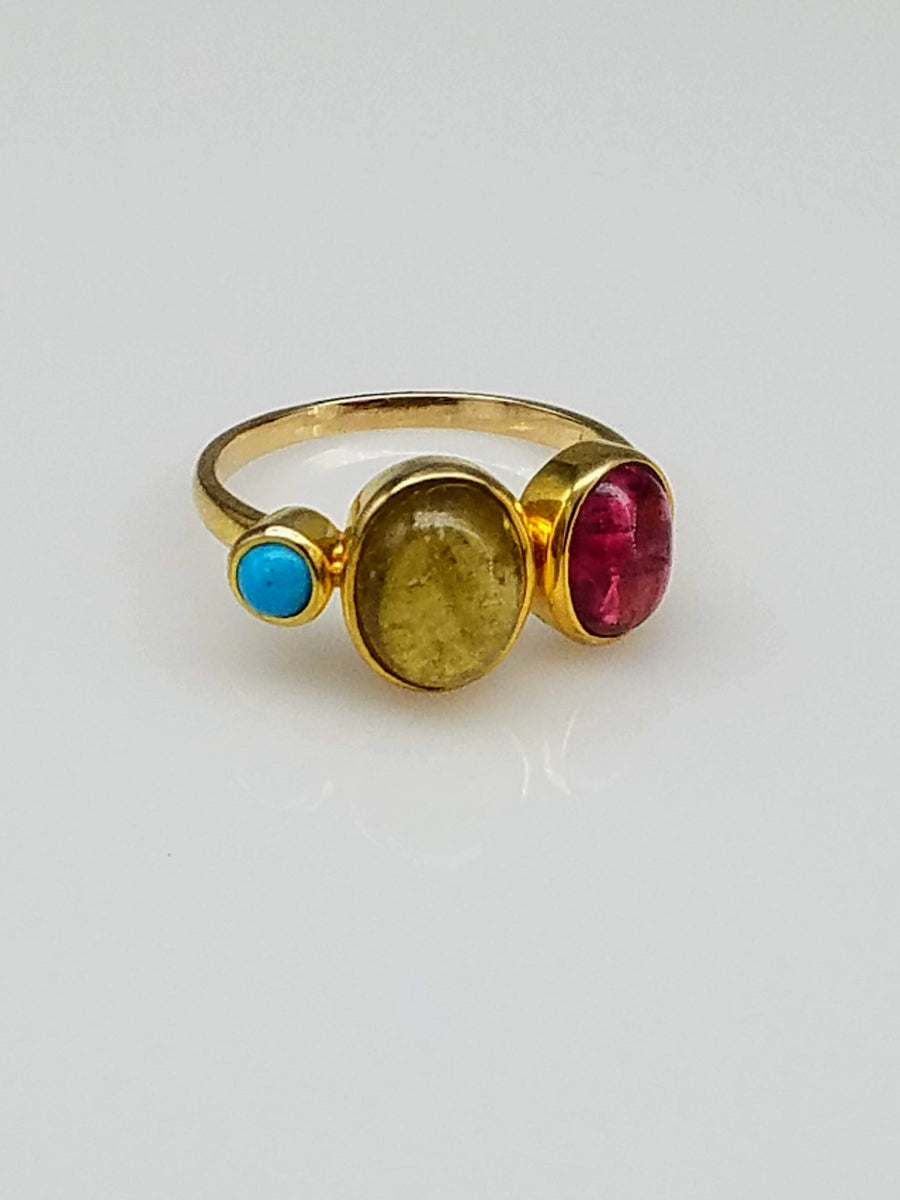 GEMSTONES GOLD RING