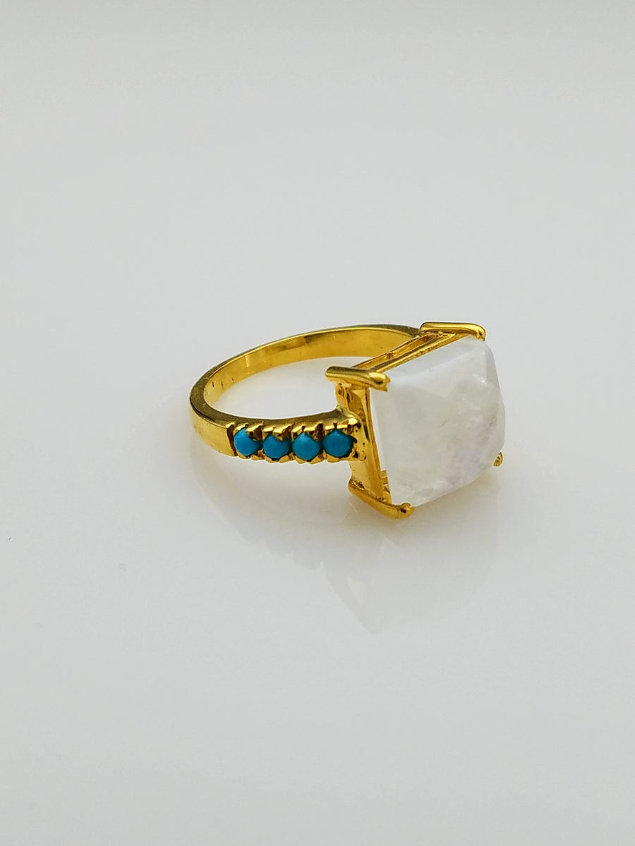 MOONSTONE TURQUOISE RING