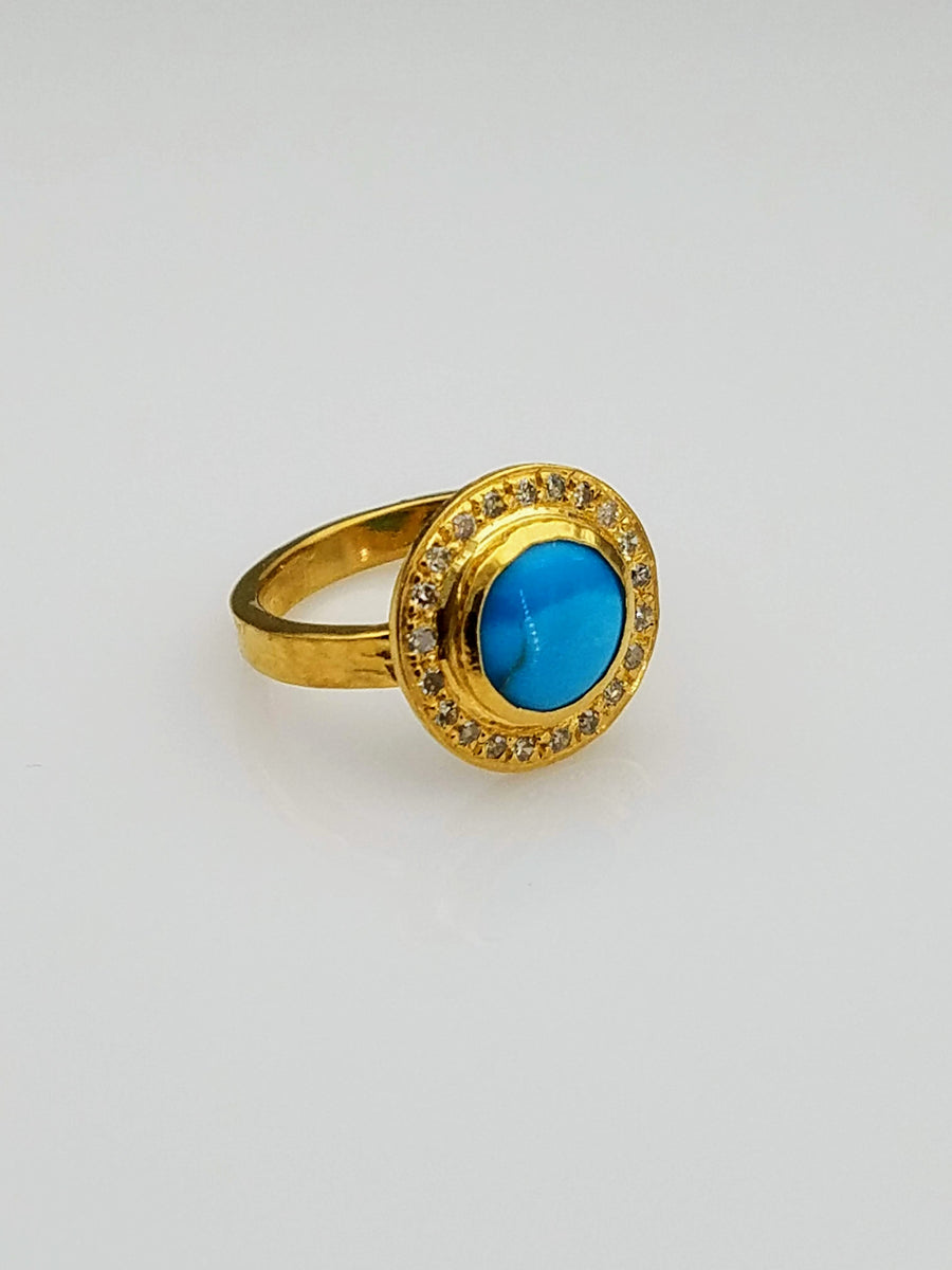 TURQUOISE DIAMONDS RING