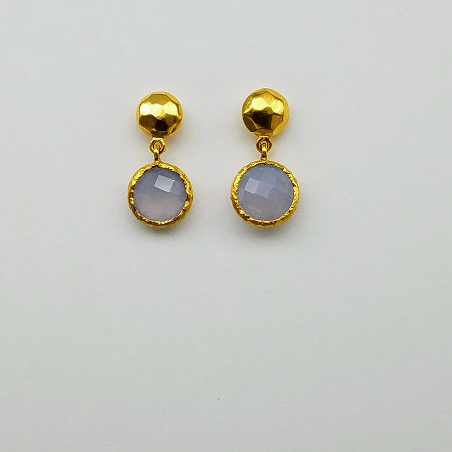 GEMSTONE STUD EARRINGS SONIA TONKIN
