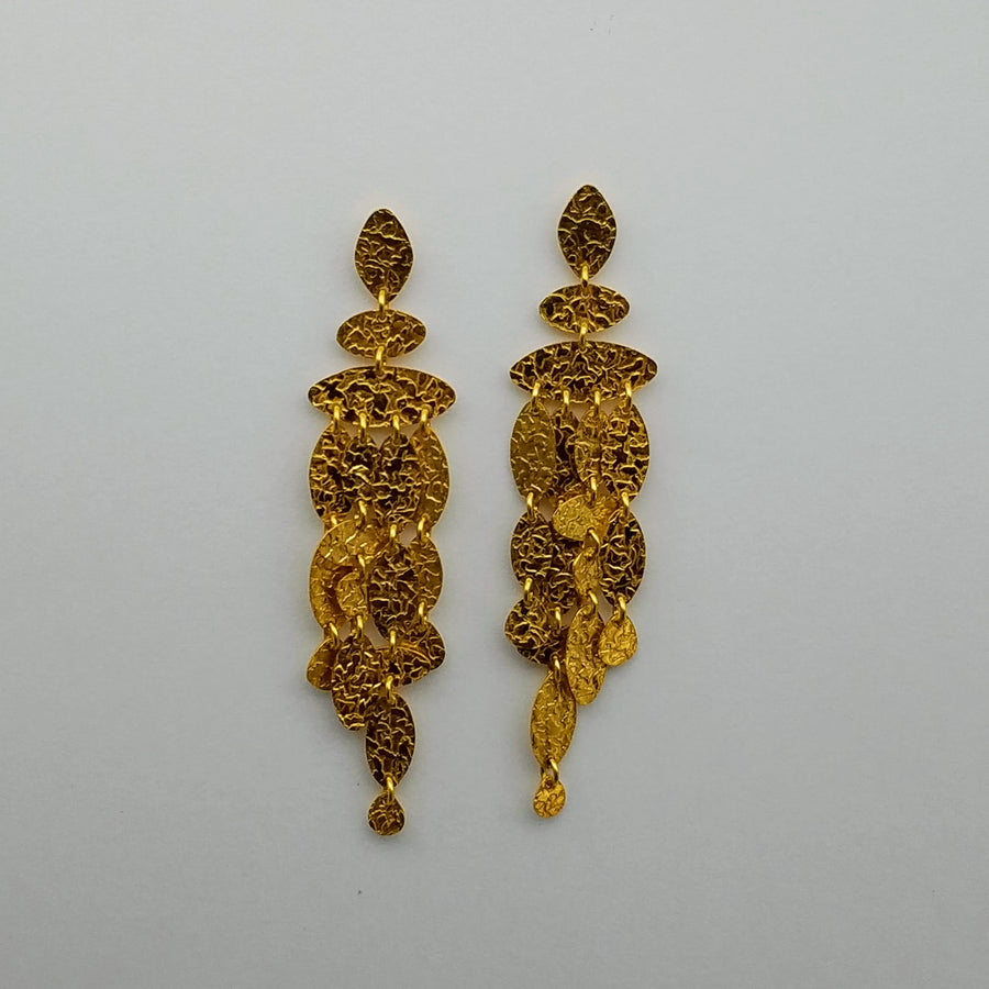 GOLD HAMMERED EARRINGS SONIA TONKIN