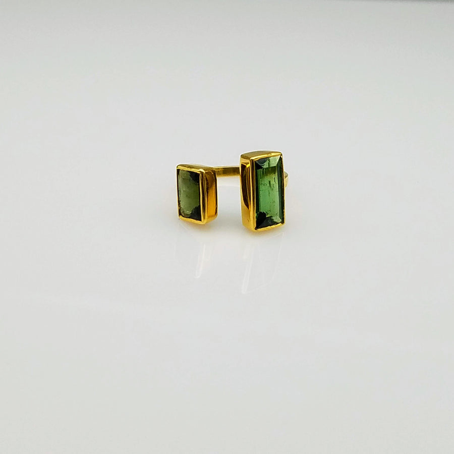 TOURMALINE OPEN GOLD RING