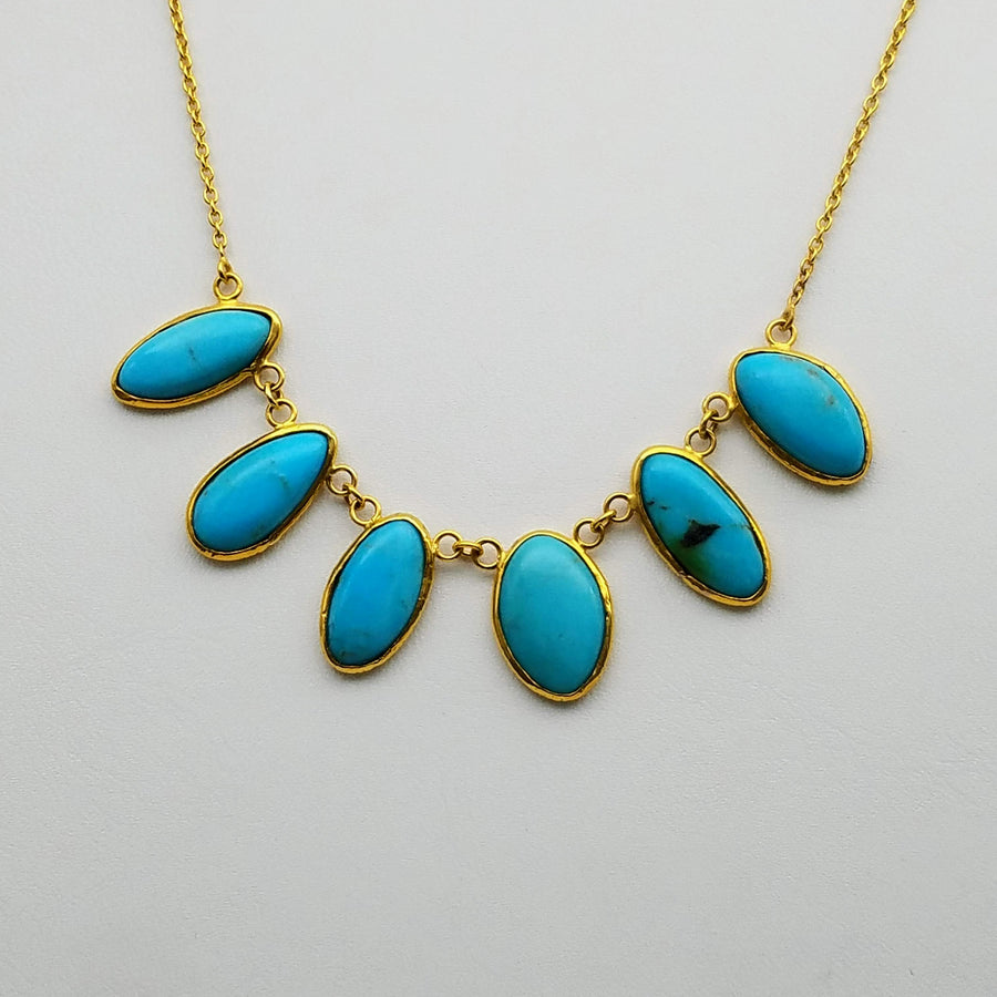 TURQUOISE GOLD NECKLACE SONIA TONKIN