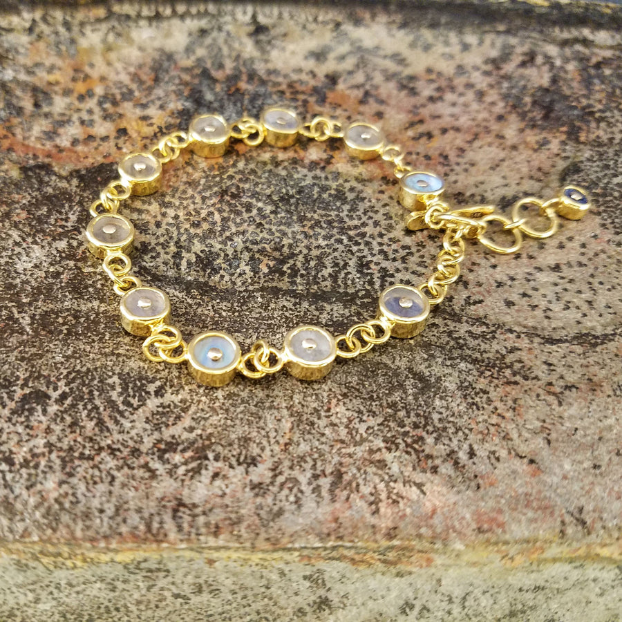 MOONSTONE SIGNATURE GOLD BRACELET