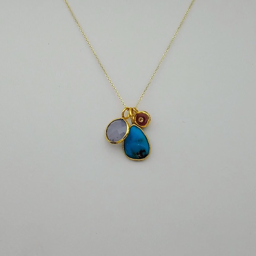 CHALCEDONY  GOLD NECKLACE