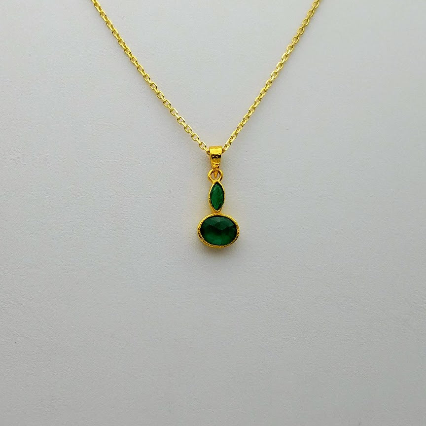 EMERALDS GOLD NECKLACE