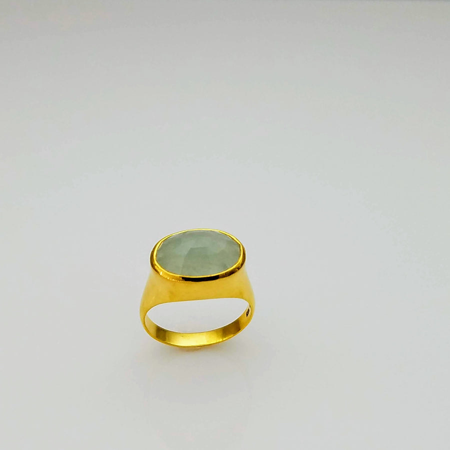 DOME AQUAMARINE GOLD RING SONIA TONKIN