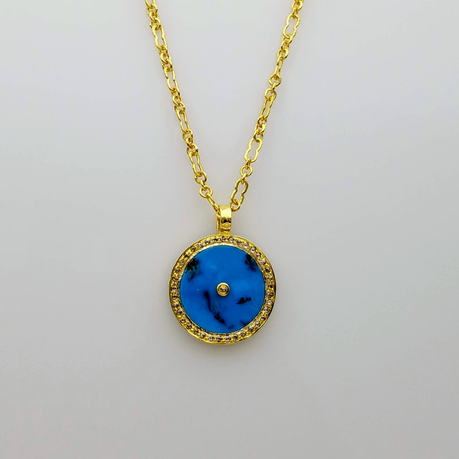 SIGNATURE TURQUOISE GOLD NECKLACE