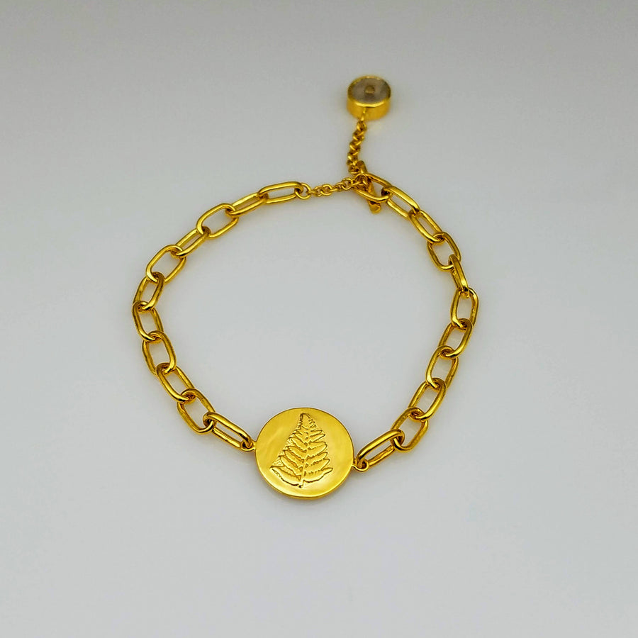 FERN GOLD LINKS BRACELET