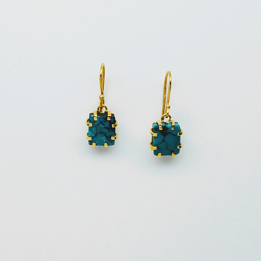TURQUOISE GOLD EARRINGS SONIA TONKIN