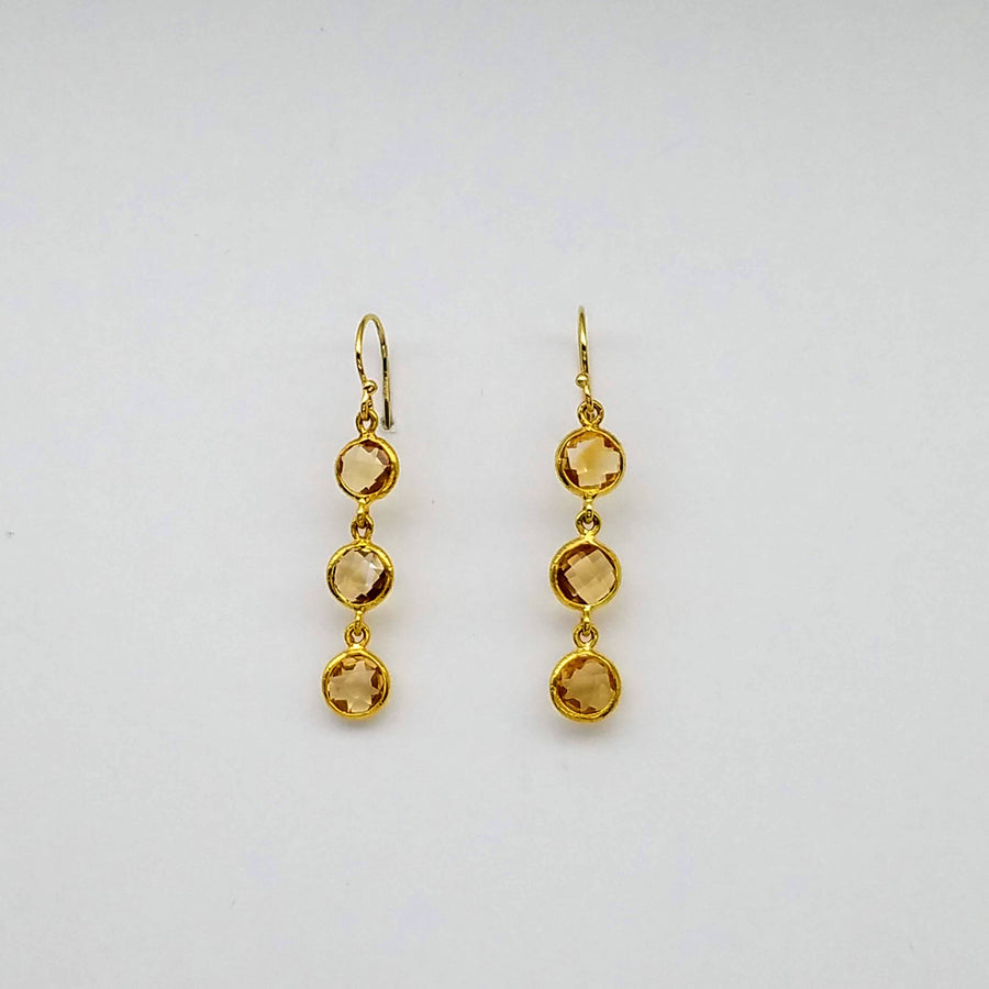 CITRINE DROPS EARRINGS SONIA TONKIN