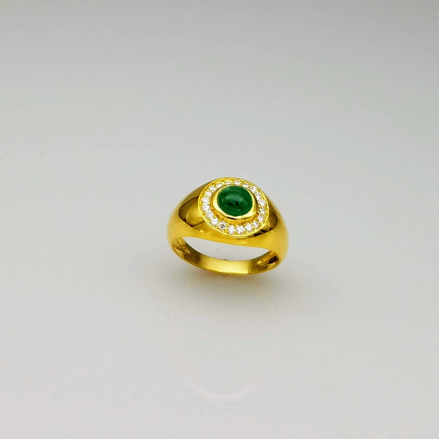 EMERALD DIAMONDS 18KT RING SONIA TONKIN