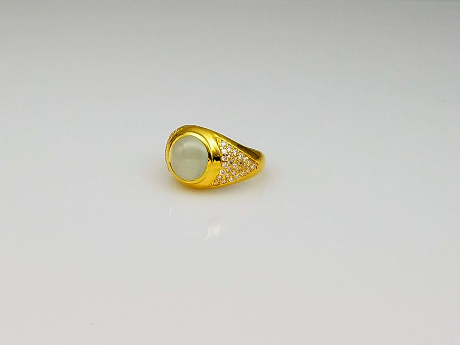 AQUAMARINE DIAMONDS 18KT GOLD RING