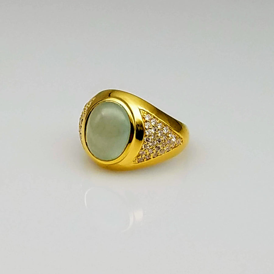 AQUAMARINE DIAMONDS 18KT GOLD RING SONIA TONKIN