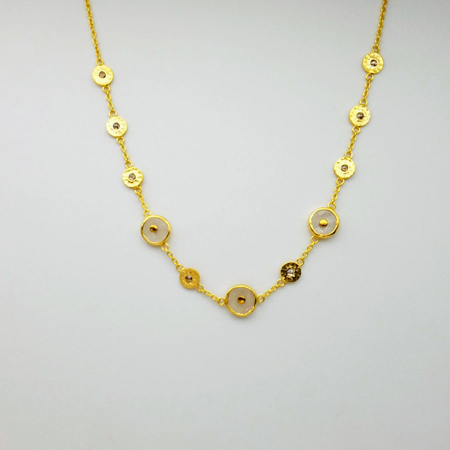 MOONSTONE DIAMOND GOLD NECKLACE SONIA TONKIN