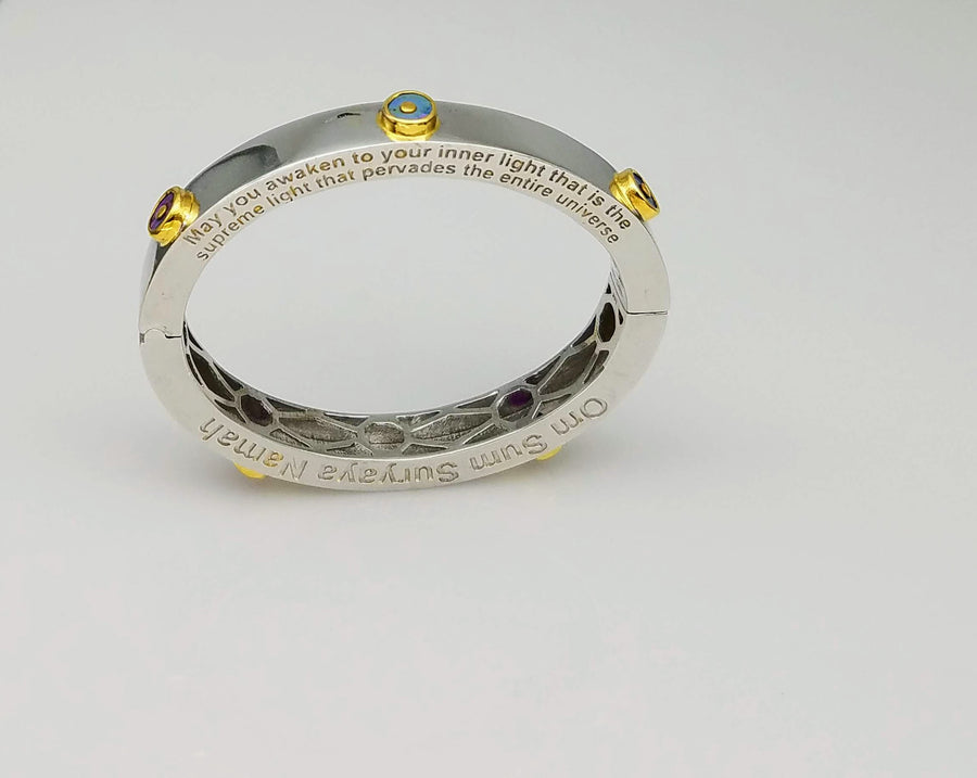 SIGNATURE 14KT/ SILVER BANGLE