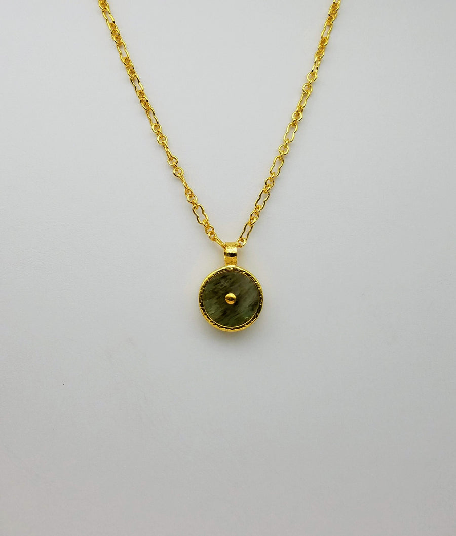 BERYL GOLD SUN SYMBOL NECKLACE