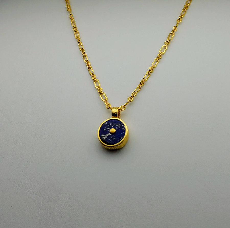 LAPIZ GOLD SUN SYMBOL NECKLACE