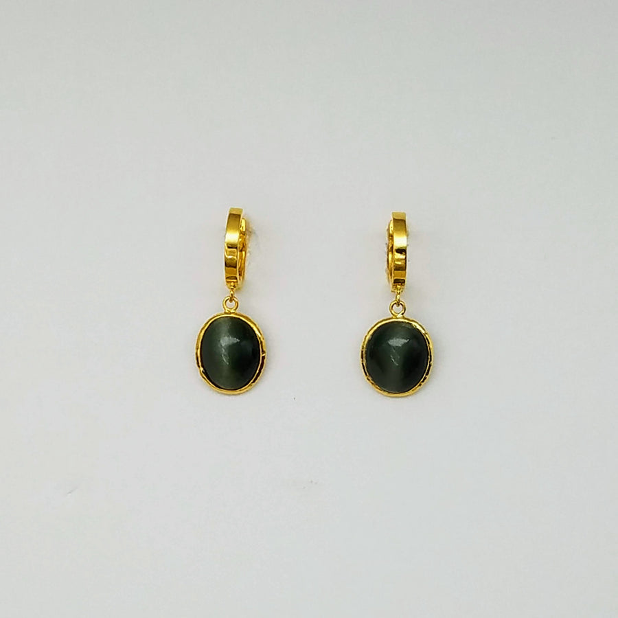 CAT'S EYE MINI HOOPS EARRINGS SONIA TONKIN