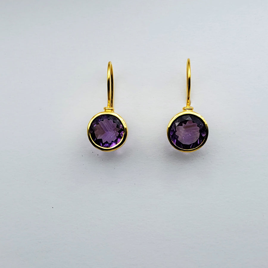 AMETHYST 14KT GOLD EARRINGS SONIA TONKIN