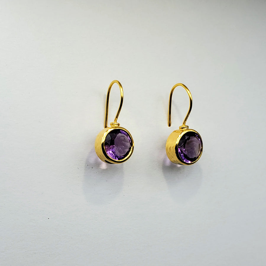 AMETHYST 14KT GOLD EARRINGS