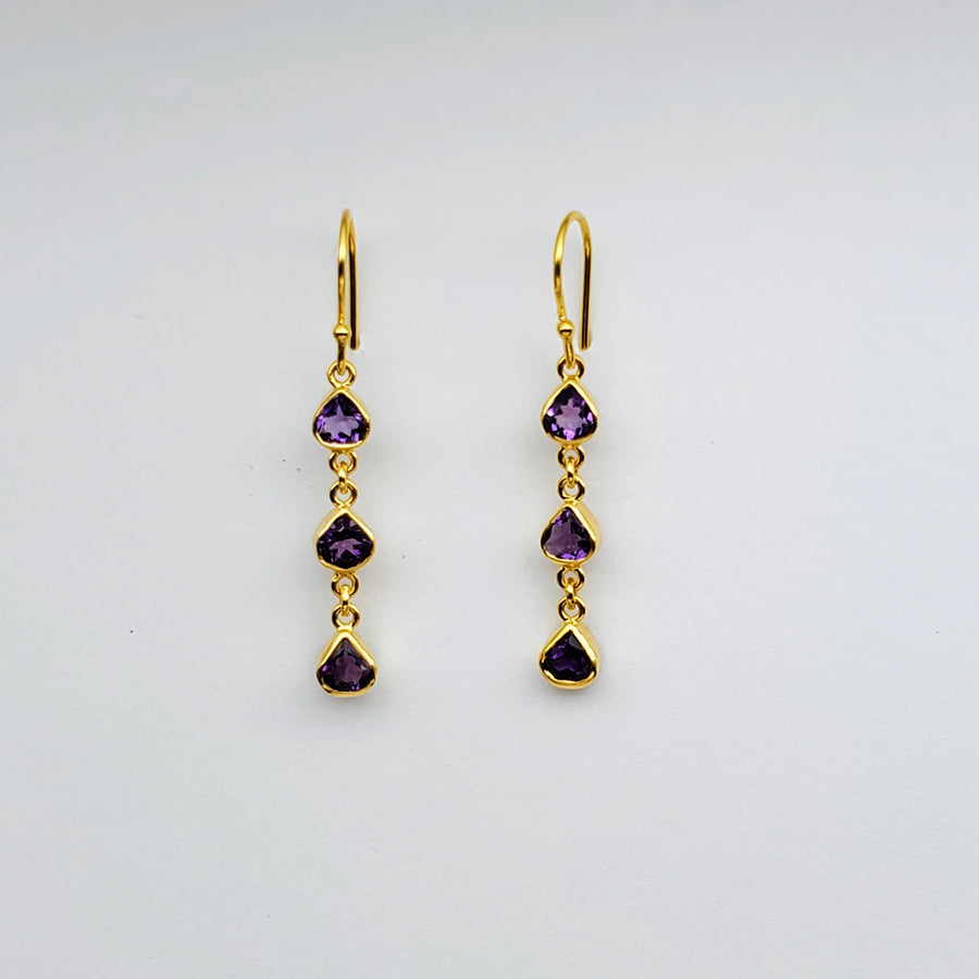 AMETHYST GOLD EARRINGS SONIA TONKIN
