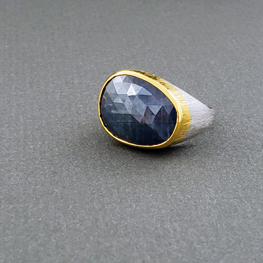SAPPHIRE GOLD MIO RING