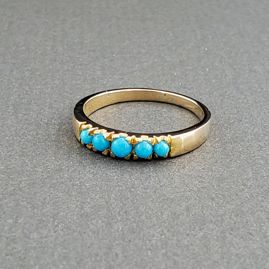 SLEEPING BEAUTY TURQUOISE 14KT GOLD RING