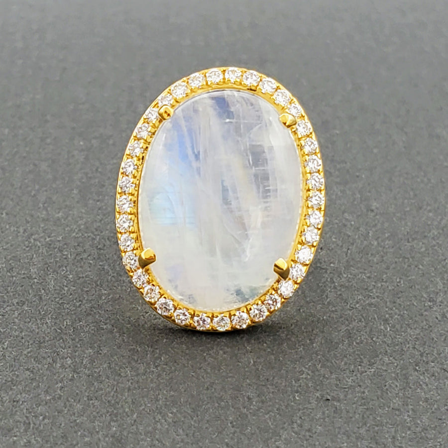 CABOCHON MOONSTONE GOLD RING