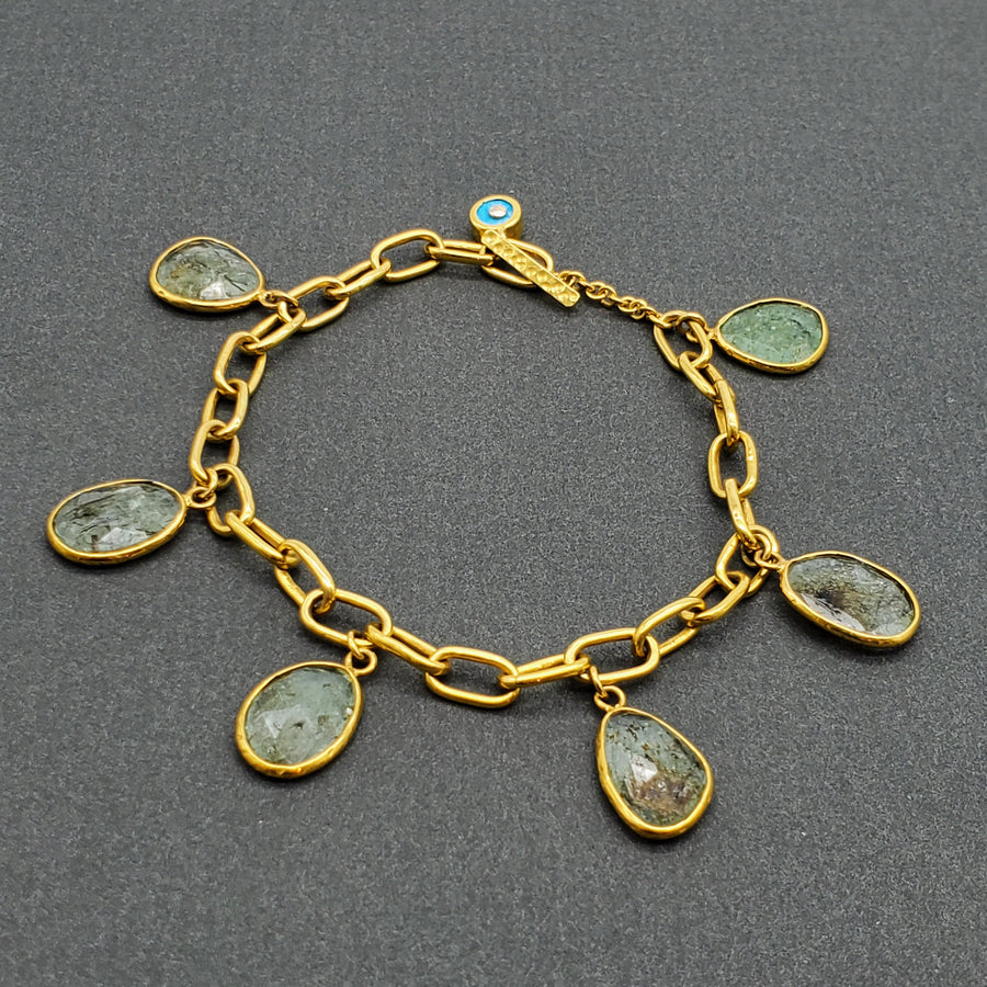 BERYL GOLD LINKS BRACELET