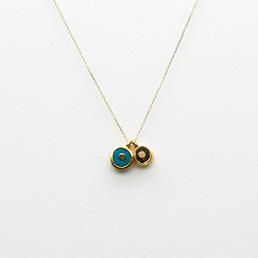 DOUBLE SUN GOLD NECKLACE