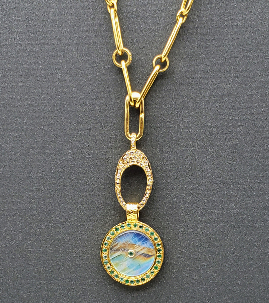 SUN MOONSTONE GOLD NECKLACE