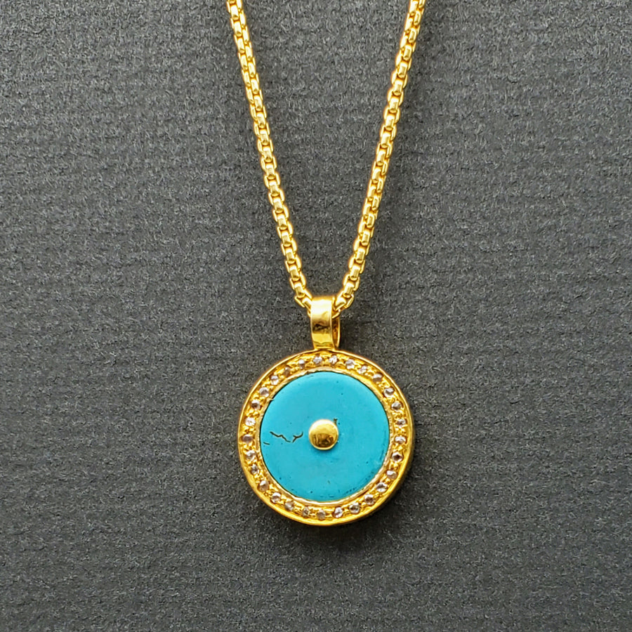 DOUBLE SIDED SUN NECKLACE
