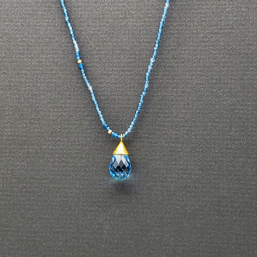 APATITE TOPAZ GOLD NECKLACE