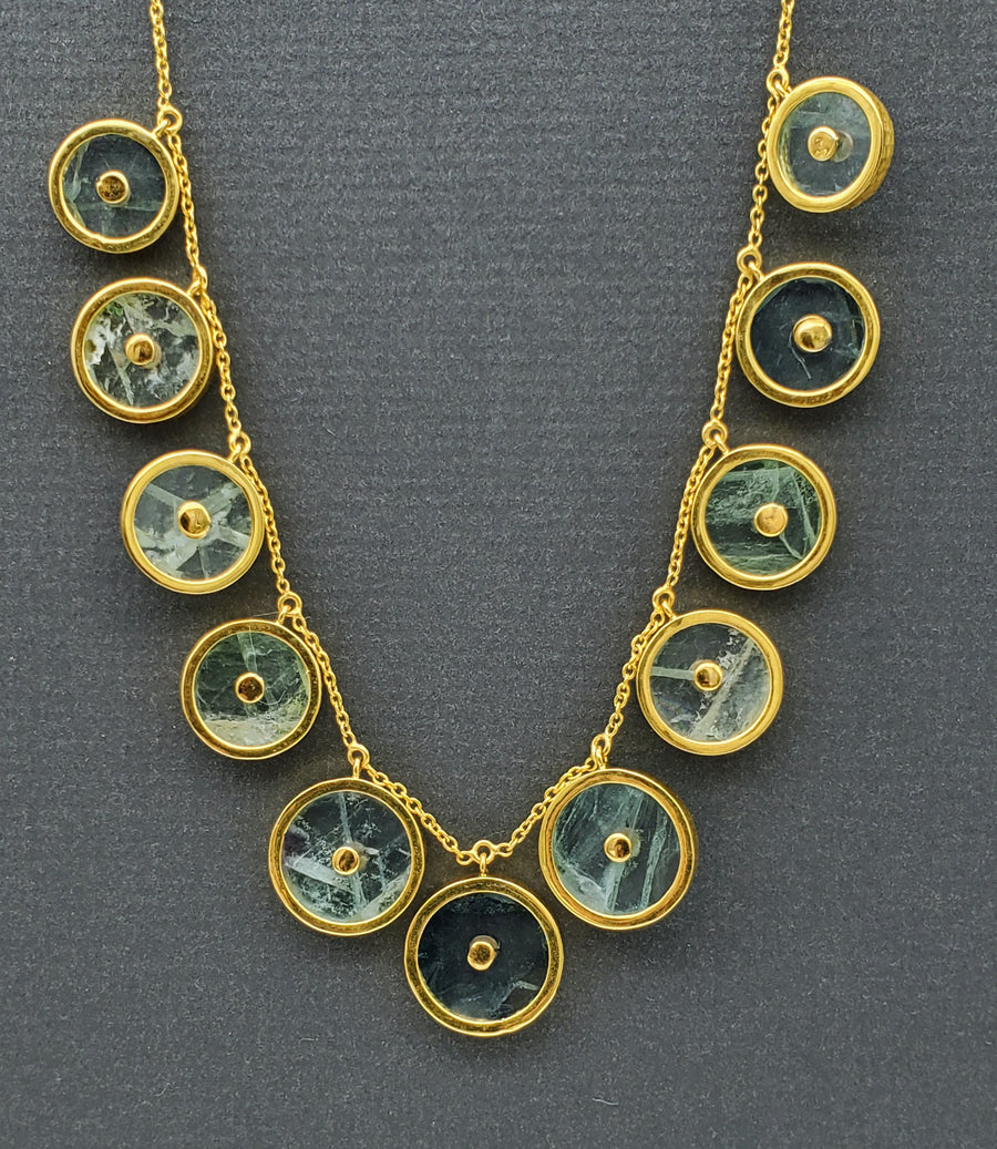 BERYL SUN GOLD NECKLACE