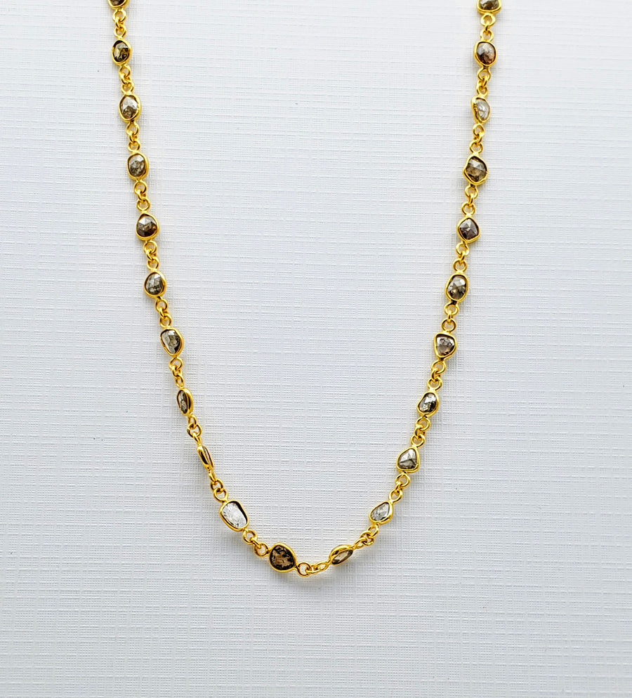 SLICE DIAMONDS GOLD NECKLACE