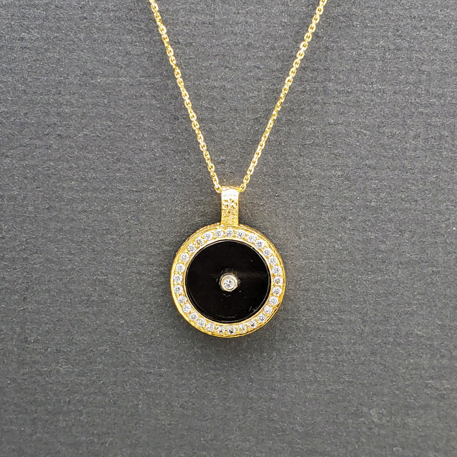 SMOKEY TOPAZ WITH DIAMONDS SUN PENDANT