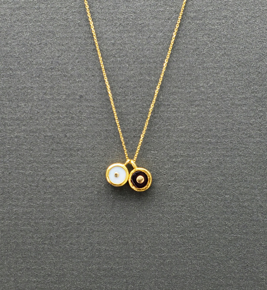 DUO SUN PENDANT NECKLACE