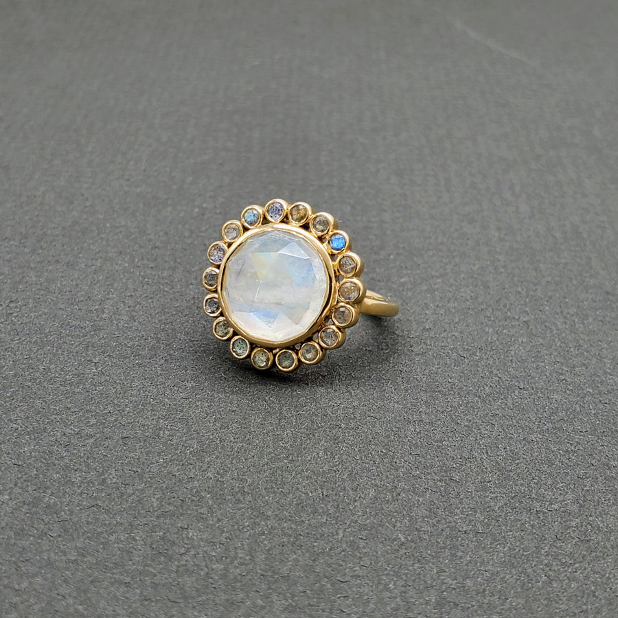 MOONSTONE LABRADORITE RING