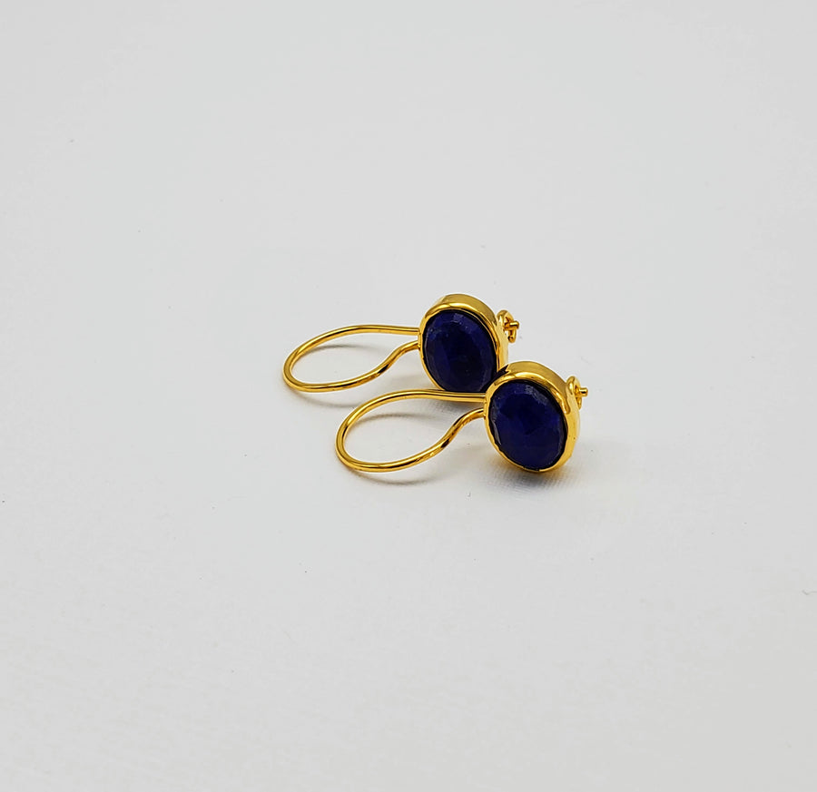 LAPIZ LAZULI GOLD EARRINGS